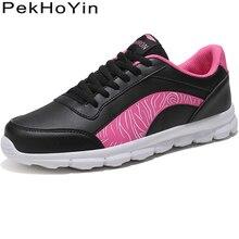 Купить с кэшбэком Brand Soft PU leather Fashion Sneakers Women Flats Shoes Zapatos Mujer Black Footwear Female Walking Shoes Women Casual Designer