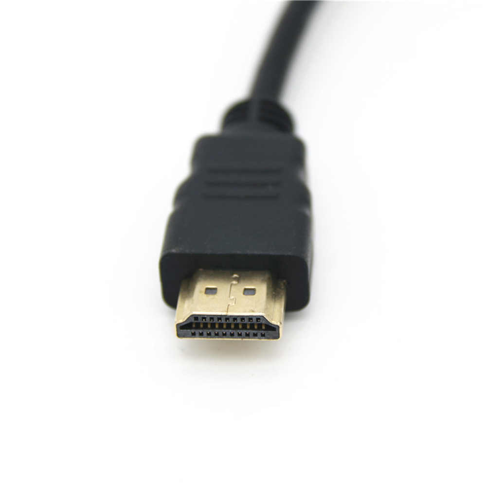 1 adet HDMI Kablosu erkek Kadın Konak Vaka Paneli Dağı Vida kablo kordonu Kablosu 0.3 m/0.5 m/ 1 m/2 m