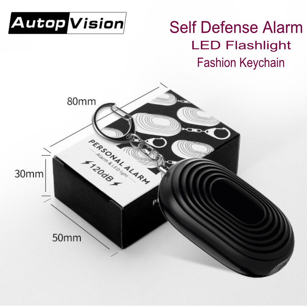 Wholesale Fashion LED Flashlight Mini Personal Security Keychain Alarm Emergency Self Defense Alarm For Women Girls Kids Elderly