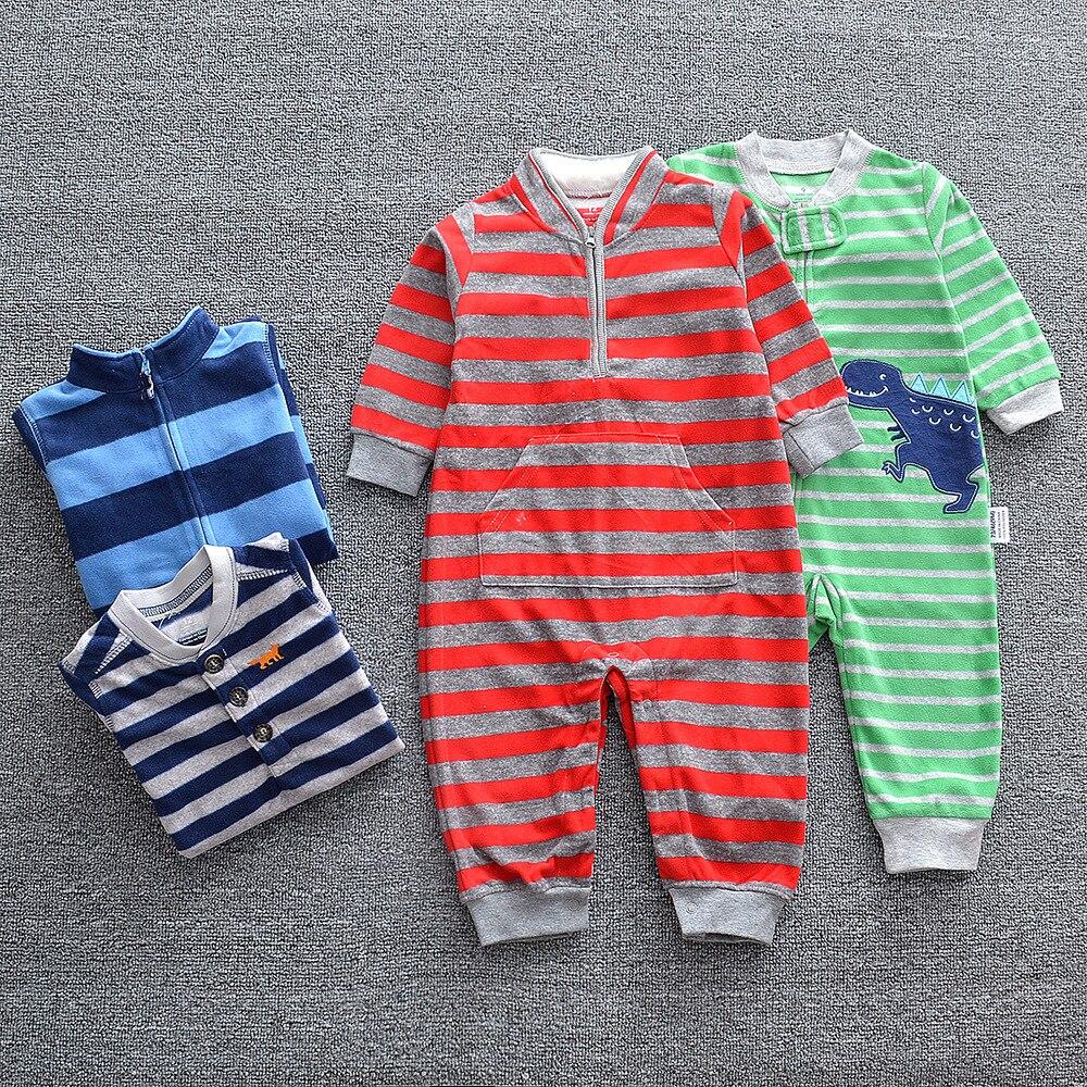 HTB1POi8XULrK1Rjy1zbq6AenFXaY 2019 Baby clothes bebes jumpsuit collar fleece newborn pajamas infants baby boys clothes toddler boys clothes coveralls outwear