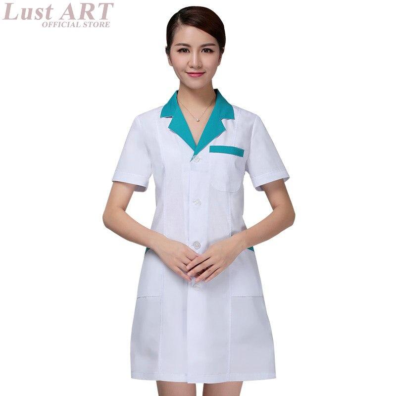 New design women men lab medical robe elegant work hospital medical uniforms white medical clothes AA040