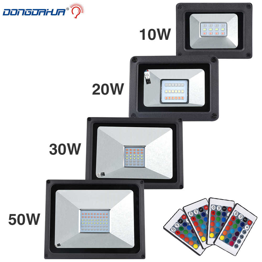 Lowest price  10W 20W 30W 50W  RGB/Cold White / Warm white LED Flood Light COB Exterior Spotlight IP65 LED Outdoor Light