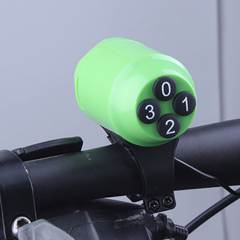 3 Color Safe Waterproof Ring Bell Alarm Speaker Cyclist Loud Electric Bicycle Horn Password Bike Handlebar Accessories