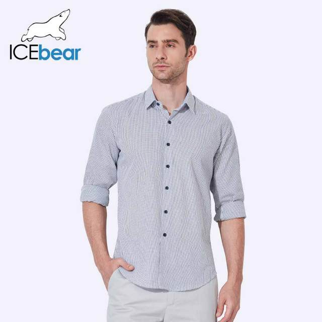 ICEbear 2017 New Spring And Summer Fashion Brand Men Clothing Slim Fit Men With Long Sleeve Casual Men Shirt CD015D
