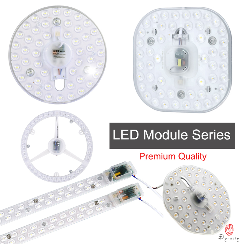 LED Module Ceiling Lamps Spare Parts AC110/220V Lighting Fixture Replace Ceiling Lights Instead Of Fluorescent Tube Round Square