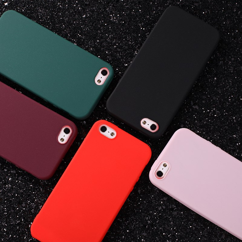 Hot Simple Color TPU Silicone Matte phone Case for iPhone XS Max case fashion Back Cover Coque 6 6S 7 8 Plus X XR