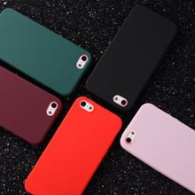 Hot Simple Color TPU Silicone Matte phone Case for iPhone XS Max case fashion Back Cover Coque for iPhone 6 6S 7 8 Plus X XS XR(China)