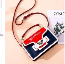 DuoLaiMi 2019 New Arrival Fashion Butterfly Pearl Embroidery Rivet Panelled Chain For Women Cross body Shoulder Handbag Bag Flap цена