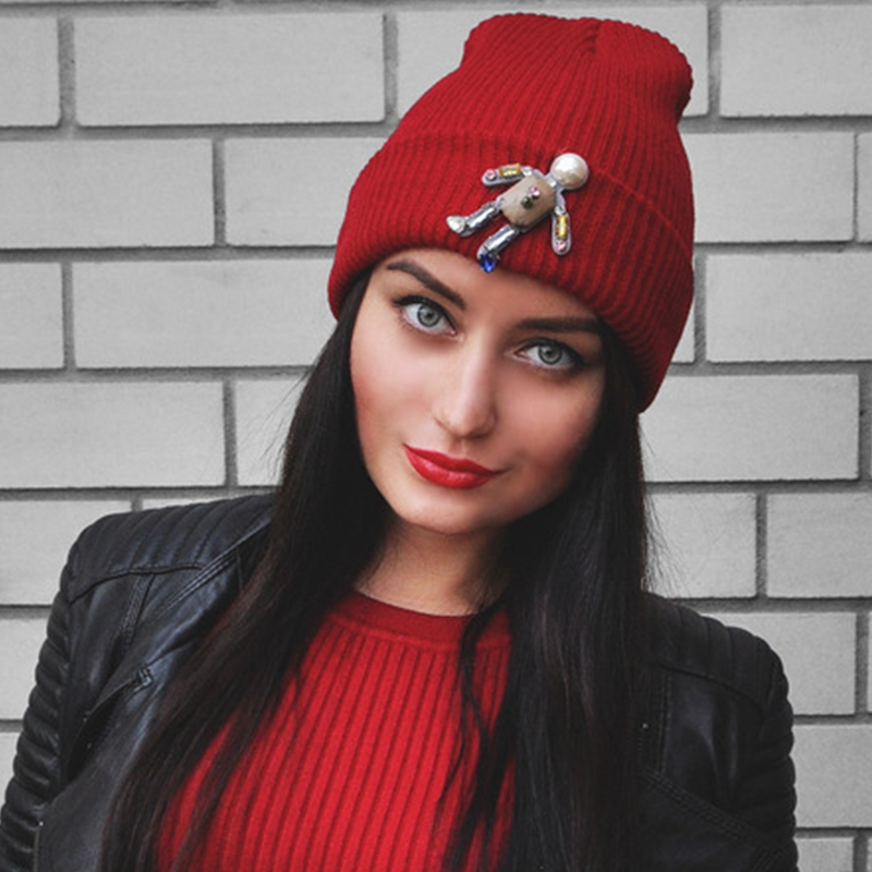 f8e56cc4173 Detail Feedback Questions about Women hat Trendy Soft Warm Knitting cap  Skullies Beanies Women hat Winter Solid Color Gorro bonnet femme on  Aliexpress.com ...
