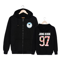 NEW KPOP Korean BTS 2th Album WINGS Bangtan Boys HipHop Monster Cotton Zipper Hoodies Clothes Zip