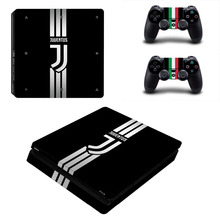 Juventus Football Team PS4 Slim Skin Sticker Decal Vinyl for Sony Playstation 4 Console and 2 Controllers PS4 Slim Skin Sticker