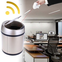 6L Smart Wireless Automatic Dustbin Stainless Steel Automatic Induction Rubbish Waste Bin Trash Can Battery Powered