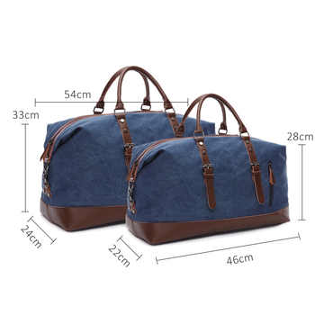 Scione Men Canvas Travel Shoulder Luggage Bags Large Capacity Handbag Business Casual Vintage Leather Simple Tote Bag For Women
