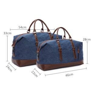 Image 2 - Scione erkekler tuval seyahat omuz bavul çanta büyük kapasiteli çanta iş rahat Vintage deri kadınlar için basit Tote çanta