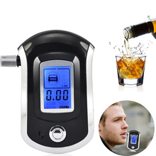 Breath Alcohol Tester Professional Digital Breathalyzer with LCD Display 5 Mouthpieces Semi-conductor Sensor for Drivers