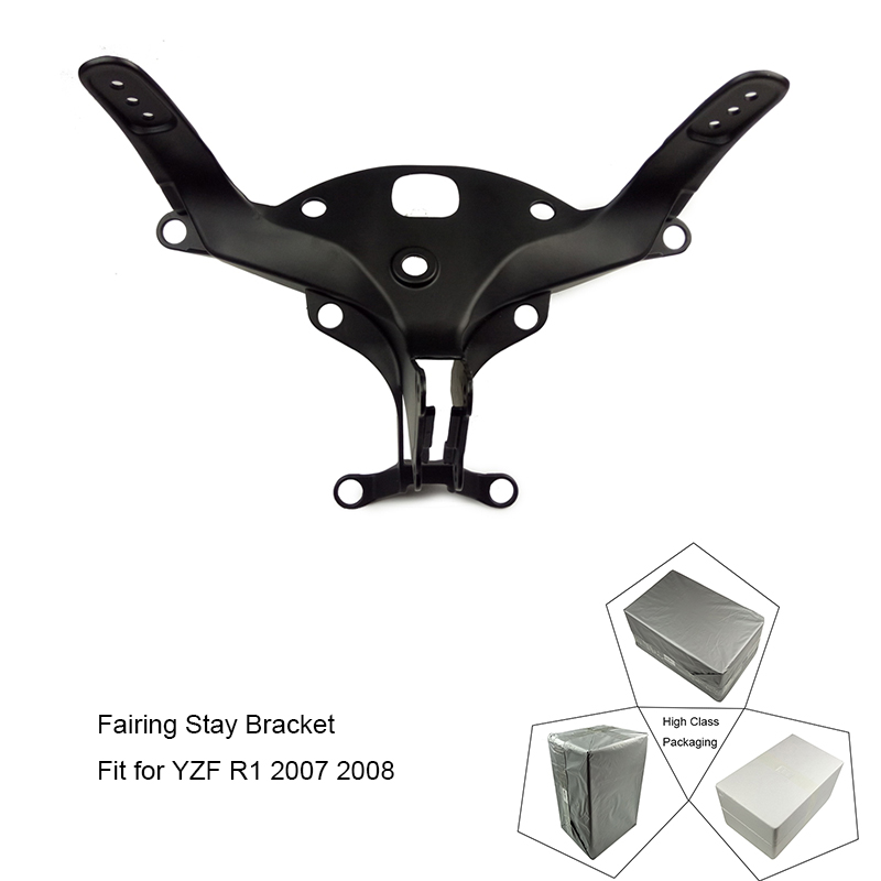 For Yamaha YZF-R1 YZF R1 2007 2008 Motorcycle Upper Front Headlight Fairing Stay Bracket Holder 100% Brand New free shipping upper fairing stay bracket for yamaha r6 2006 2007 r6s 2006 headlight fairing stay bracket