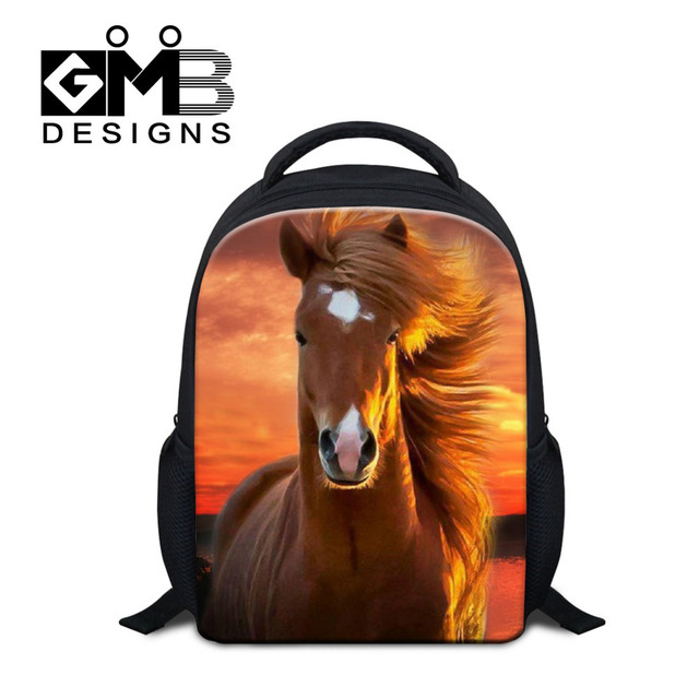 50fbbabf32 Dispalang Animals Print Kids Baby Bags Horse Kindergarten School Bags For Girls  Boys 12 Inch Small Backpack Mochilas Infantil