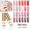RS NAIL 15ml UV Color LED Gel Lacquer Gel Varnish 308 Colors Nail Gel Polish #121-180 Esmalte Permanente a set of gel varnish(3)