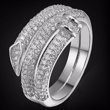Luxury Brand Copper Women Wedding Rings Fashion Men Jewelry Perfect AAA Zircon Ring Jewelry Brand Dubai Aneis Anel Accessories