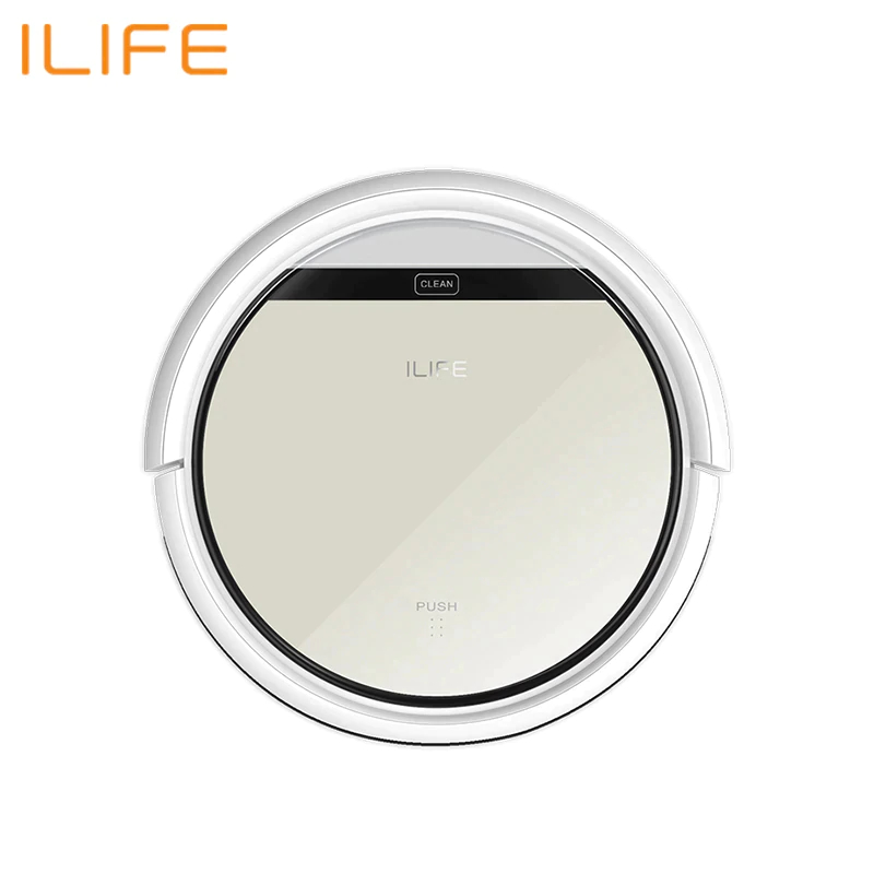 Robot Vacuum Cleaner ILIFE V50 Wireless Vacuum Cleaner Dry Cleaning For Home Automatic Suction 500 Pa Battery 2600 mAh rechargeable ilife battery 14 8v 2800mah 1 battery 4 brush robotic vacuum cleaner accessories parts for chuwi ilife v7 v7s