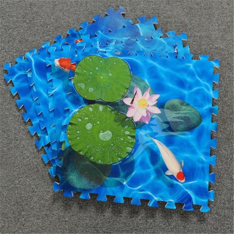 Lotus beautiful baby EVA foam play puzzle pad children sports tile carpet carpet each 60X60cm 4piece pads for the entire pattern