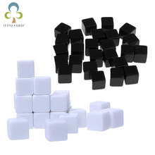 20Pcs/Lot Glossy Dice Teaching Blank Dice Light Plate Can Be Screen Printing DIY Black White Sexy Dice Square Angle 16mm GYH(China)
