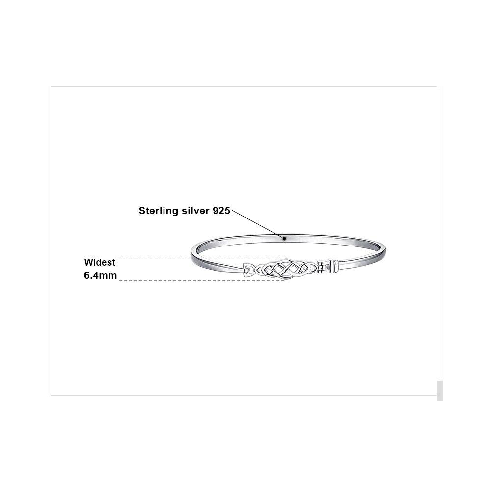 Image 5 - JPalace Crown Celtic Knot Bracelet 925 Sterling Silver Bangles  Bracelet Bracelets For Women Silver 925 Jewelry Making  OrganizerBracelets