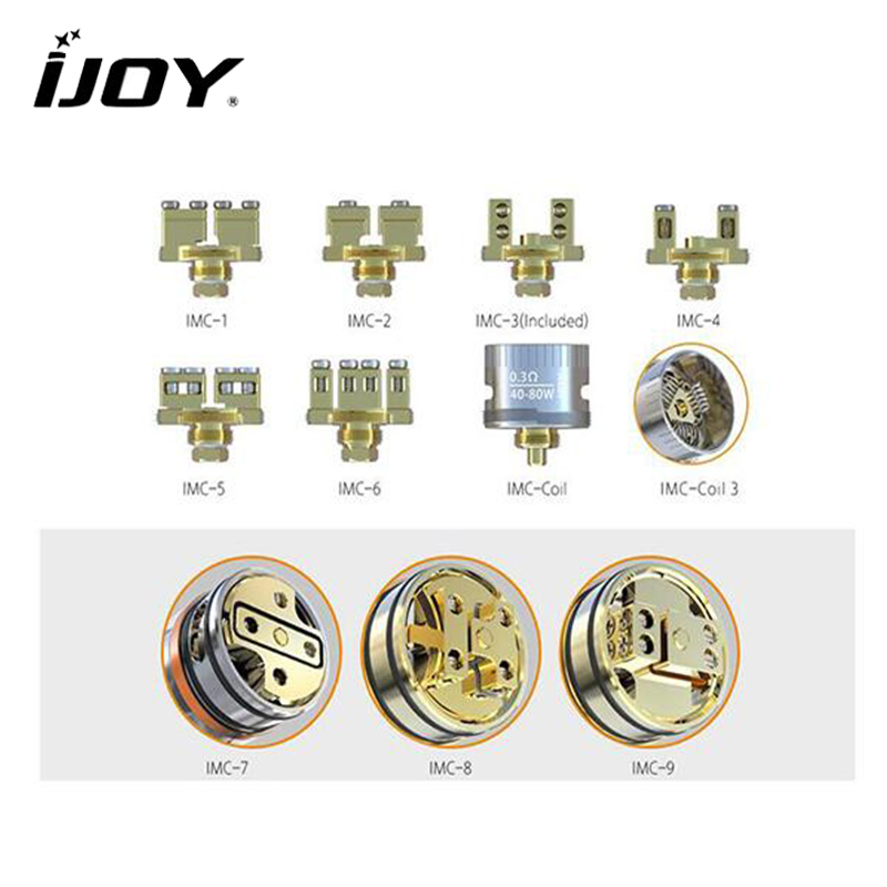цена на IJOY Interchangeable Gold-Plated Building Deck IMC-1/2/3/4/5/6/7/8/9 IMC-Coil/3 for Limitless RDTA Classic Edition / Combo RDTA