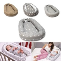 Baby Nest Bed Crib Portable Removable and Washable Crib Travel Pillow Bed for Children Infant Kids Cotton Cradle Decor