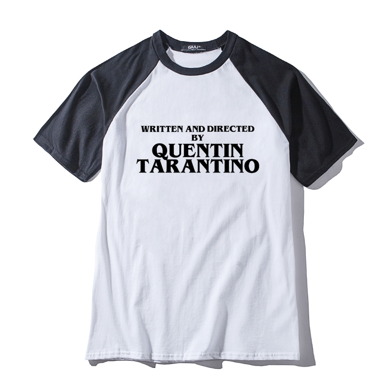 4f137f33b WRITTEN AND DIRECTED BY QUENTIN TARANTINO Man & Women Unisex T Shirt O Neck  Mens Long