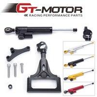 GT Motor FREE SHIPPING For kawasaki Z1000 Z750 2003 2009 Motorcycle Aluminium Steering Stabilizer Damper Mounting Bracket Kit