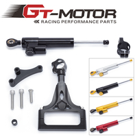 GT Motor FREE SHIPPING For kawasaki Z1000 Z750 2003 2009 Motorcycle Aluminium Steering Stabilizer Damper Mounting Bracket Kit