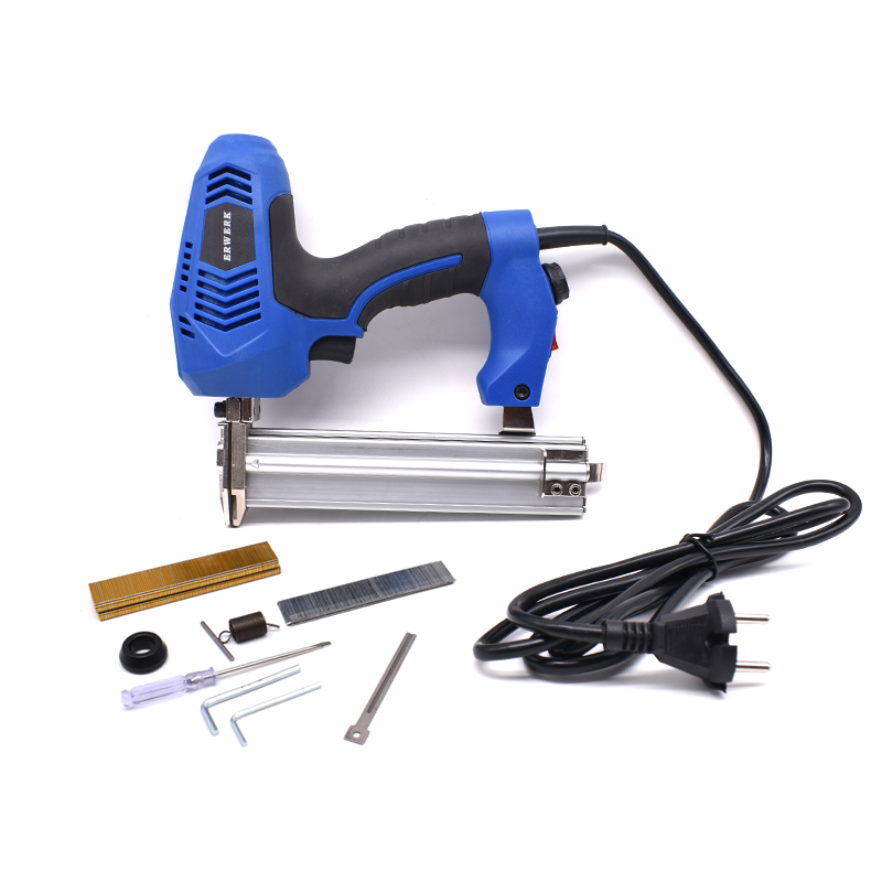 220V Electric Power Tool F30 Brads Nailer & 425K Stapler Gun With 600pcs Nails 2 In 1 Framing Tacker Electric Nail Staple Gun