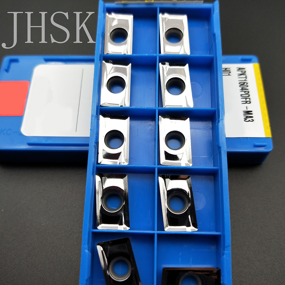 10pcs APKT1604PDFR-MA3 H01 CNC Lathe Cutting Blade Carbide Turning Insert Used For Aluminum
