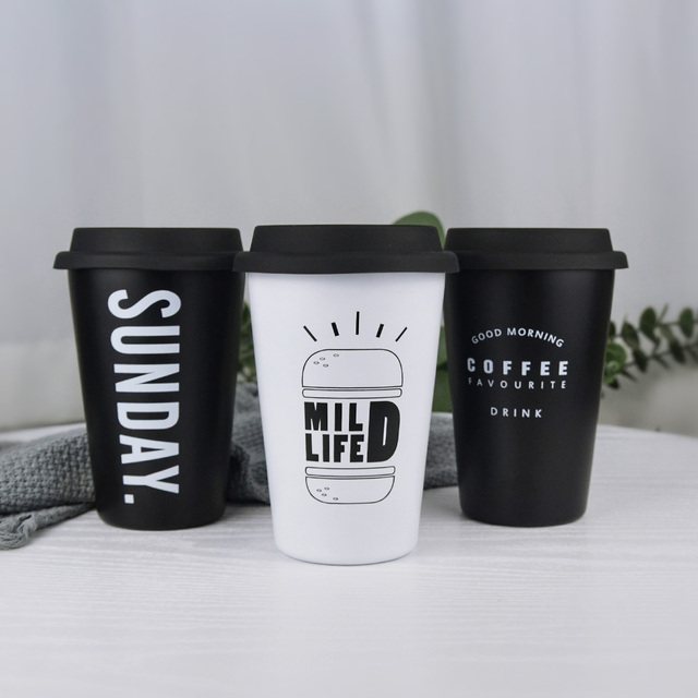 Stainless Steel Food Grade Silicone Cover Mug With Straw Lid
