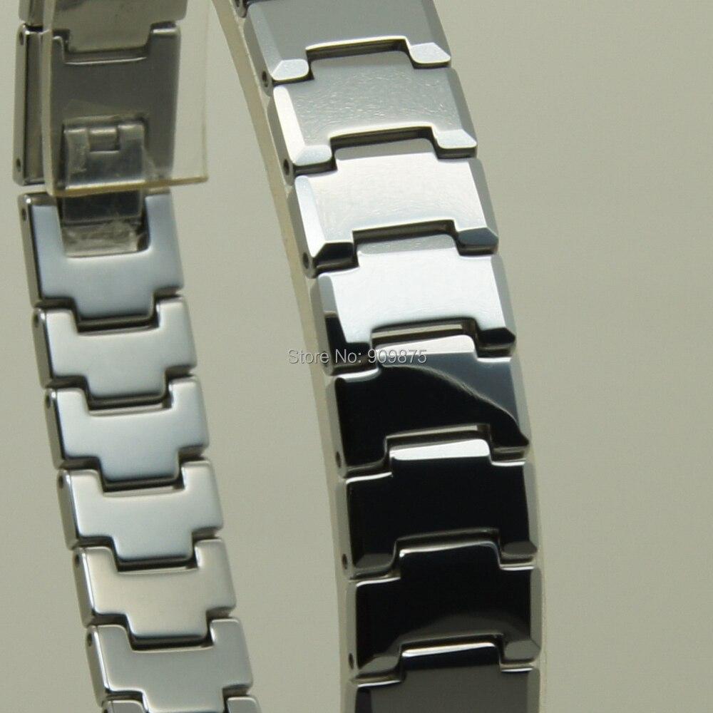 12mm width heavy 80.3g Men/women jewelry  classic  hi tech scratch proof shiny tungsten bracelet-in Chain & Link Bracelets from Jewelry & Accessories    1