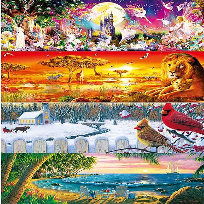 1000 Stück Panorama Jigsaw Puzzle Afrikanischen Ebenen Safari Jumbo Jigsaw Neue Jahr Geschenk Letzter Stil