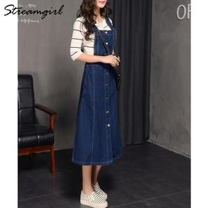Image 2 - Falda larga de 2019 mujeres atado faldas para mujeres Plus tamaño de verano de las mujeres faldas falda de Jeans con correas mujer