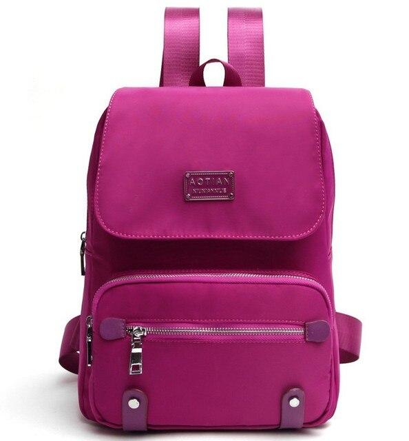 d9a703335d84d 2019 Yeni Moda Kadın okul sırt çantası Kırmızı Su Geçirmez naylon Çanta  Marka Yüksek kalite Kadın