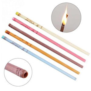 Image 2 - 10pcs/lot Ear Wax Removal Candle Cleaning Candles Healthy Care Hollow Coning Treatment Indiana Therapy Fragrance Wax Candle Tool