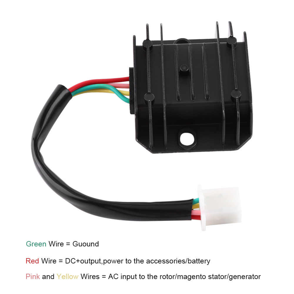 4 Wires Voltage Regulator Rectifier Car-Styling   For 150-250CC Motorcycle Scooter Moped ATV 4 Pins 12V Motocicleta Accessories