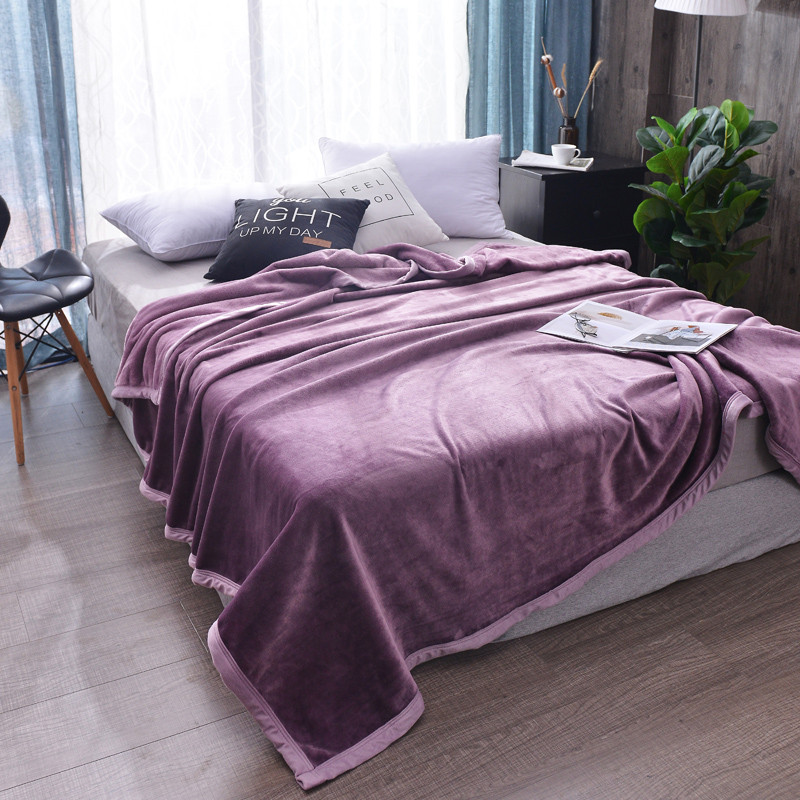 Purple Color Thickening Flannel Duvet Cover Blankets For Beds Sofa 1Pc Winter Bedspread Christmas Fluffy Children Quilt BlanketsPurple Color Thickening Flannel Duvet Cover Blankets For Beds Sofa 1Pc Winter Bedspread Christmas Fluffy Children Quilt Blankets