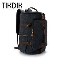 Multifunction Travel Bags Large Capacity Men Vintage Canvas Tote Portable Luggage Daily Handbag Shoulder Backpack Bolsa valise