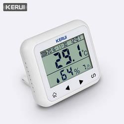 KERUI беспроводной светодиодный дисплей регулируемая температура и влажность детектор, датчик тревоги защита личной и имущественной