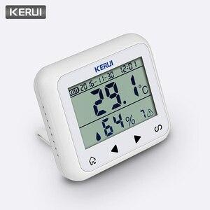 Image 2 - KERUI اللاسلكية LED عرض قابل للتعديل درجة الحرارة والرطوبة جهاز استشعار إنذار للكشف عن حماية السلامة الشخصية والممتلكات