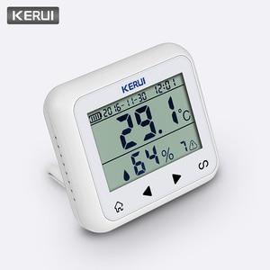 Image 2 - Беспроводной светодиодный дисплей KERUI с регулируемой температурой и влажностью, детектор датчика, защищает личную безопасность и личность