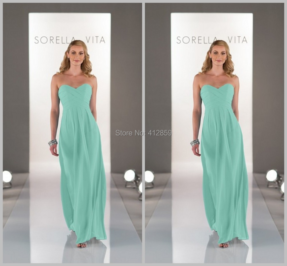 1605 simple but elegant sweetheart sleeveless floor length for Green beach wedding dresses
