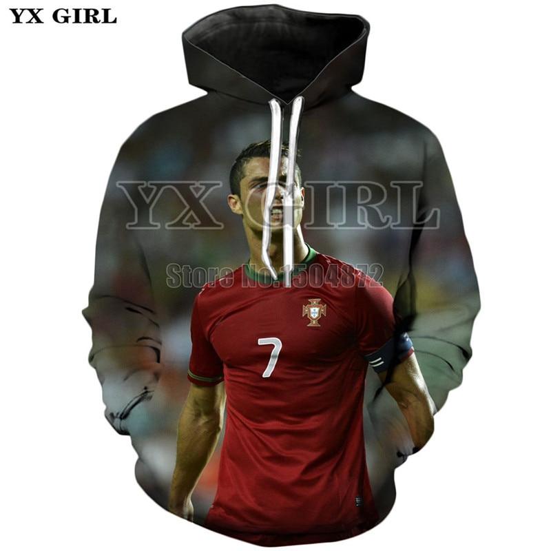 Unisex Spring Autumn Clothes Superstar Ronaldo 3d Printed Hoodie for Mens Womens Ronaldo Hooded Sweatshirt Casual Hoodies Tops in Hoodies amp Sweatshirts from Men 39 s Clothing