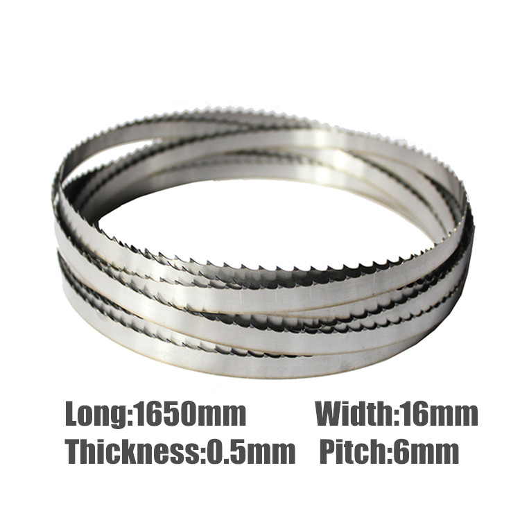 3Pcs 1650*16*0.5mm Meat <font><b>Band</b></font> <font><b>Saw</b></font> <font><b>Blades</b></font> 1650mm Bone <font><b>Blades</b></font> 16*0.5*1650mmSaw <font><b>Blades</b></font> <font><b>For</b></font> Meat Bone image