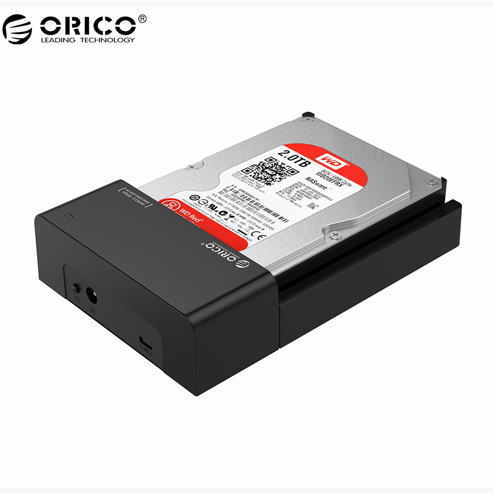ORICO 6518C3 2.5/3.5 pouce HDD Station D'accueil SATA 3.0 à USB3.1 Type-C Boîtier Disque Dur SSD HDD Cas Support UASP 8 TB.